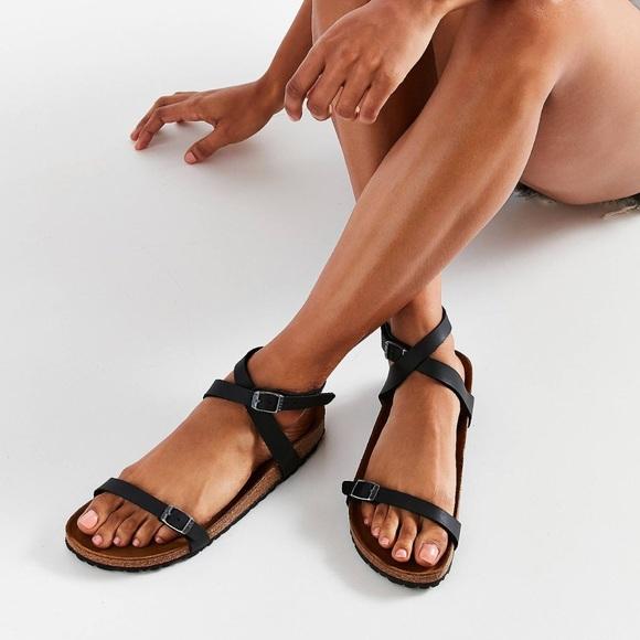 f933b189598c7 Birkenstock Shoes - Birkenstock Black Daloa Cross Ankle Strap Sandals